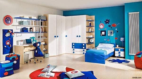 Une Décoration chambre bleu enfant