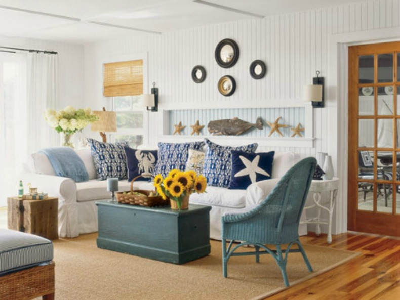 Coastal home inspirations on the horizon coastal rooms for Beach house themed decorating ideas