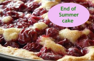 Recipe for baking a cherry end of summer cake!