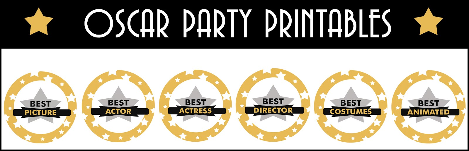 Diddles and Dumplings: Oscar Party Printables