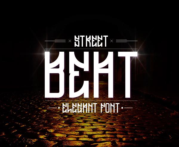 Font Terbaru Untuk Desain Grafis - Beat Free Font