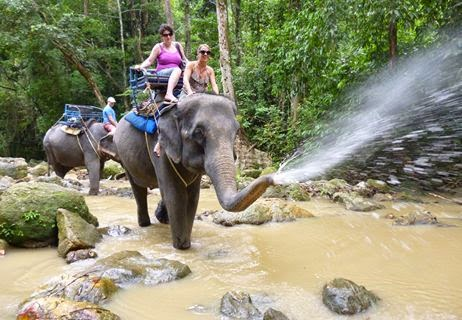 NAMUANG JUNGLE TRIP ; ELEPHANT TREKKING