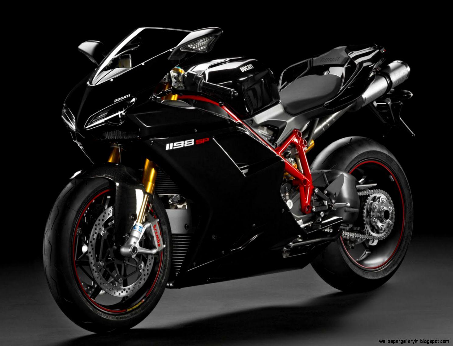 Superbike Ducati 1198SP Black Wallpaper HD 13791 Wallpaper