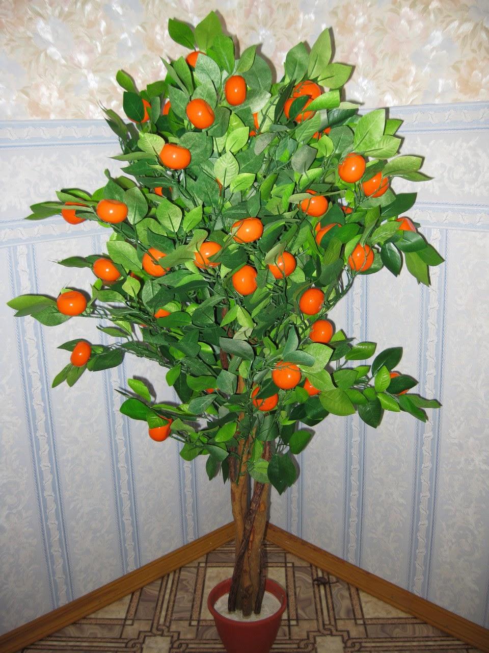 Декоративное мандариновое дерево своими руками 34