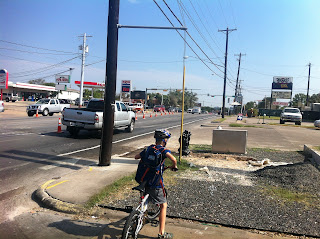 South Lamar cycling with kids