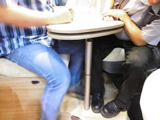 Sitzecke im Rapido V55 Modul Space