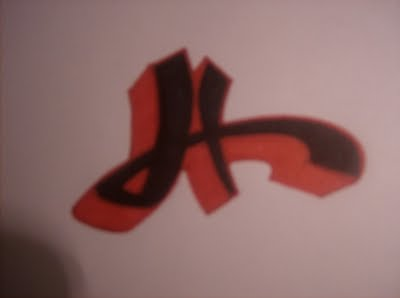 h graffiti letters  Graffiti Alphabet H 4