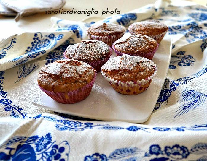 muffin all'avena e gocce di cioccolato