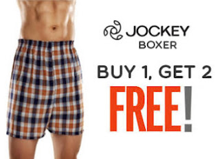 Buy Jockey Boxers Shorts at Buy 1 Get 2 Free & Get 100% cashback coupon
