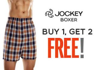 Buy Jockey Boxers Shorts at Buy 1 Get 2 Free & Get 100% cashback coupon