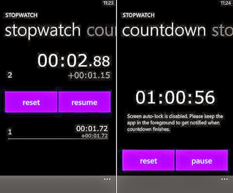 Nokia Releases Lumia Devices to Applications Stopwatch