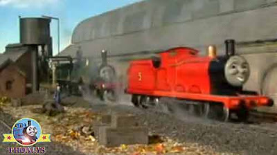 Thomas and friends Emily the train James the red engine determined to do a good cargo shipment job