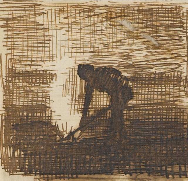 Man Burning Weeds drawing by Vincent van Gogh