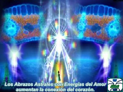 Hoy queremos que cierren los ojos y se permitan sentir nuestros Abrazos Astrales y a la Energía de nuestro Amor.