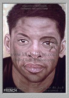 رسم بورتريه تعليم رسم مشاهير كرة القدم موقع عالمى الرسام خالد عبد الكريم