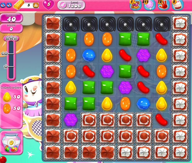 Candy Crush Saga 1206