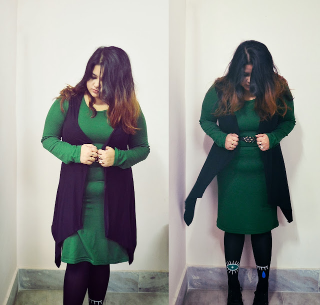 green knit dress frontrowshop