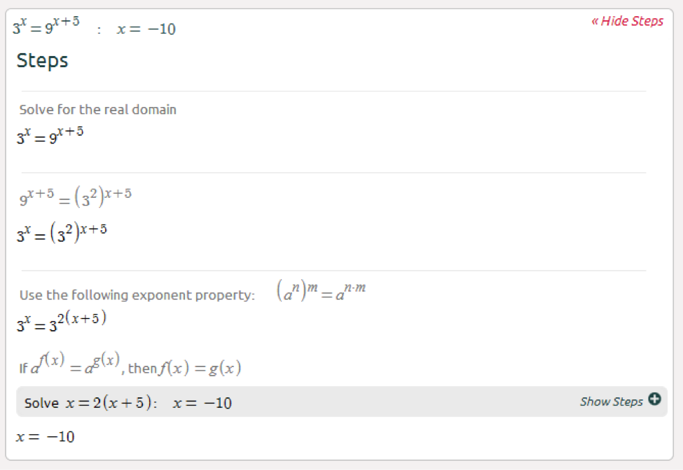 High School Math Solutions – Exponential Equation     - Symbolab Blog