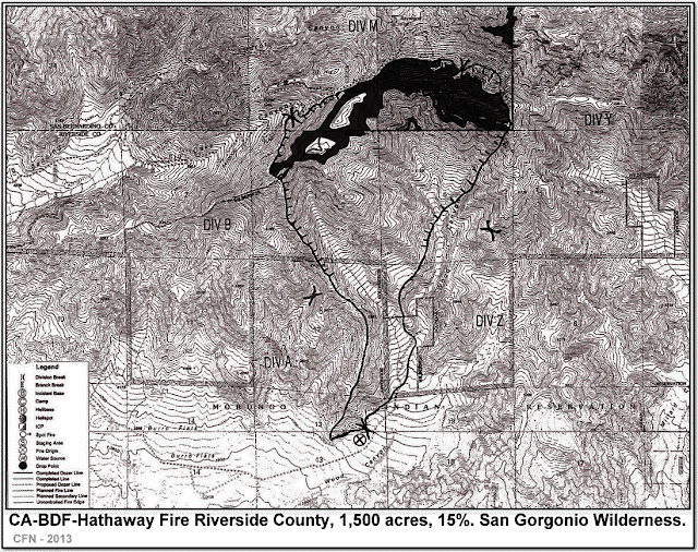 CA-BDF-Hathaway Fire TOPO PERIMETER MAP