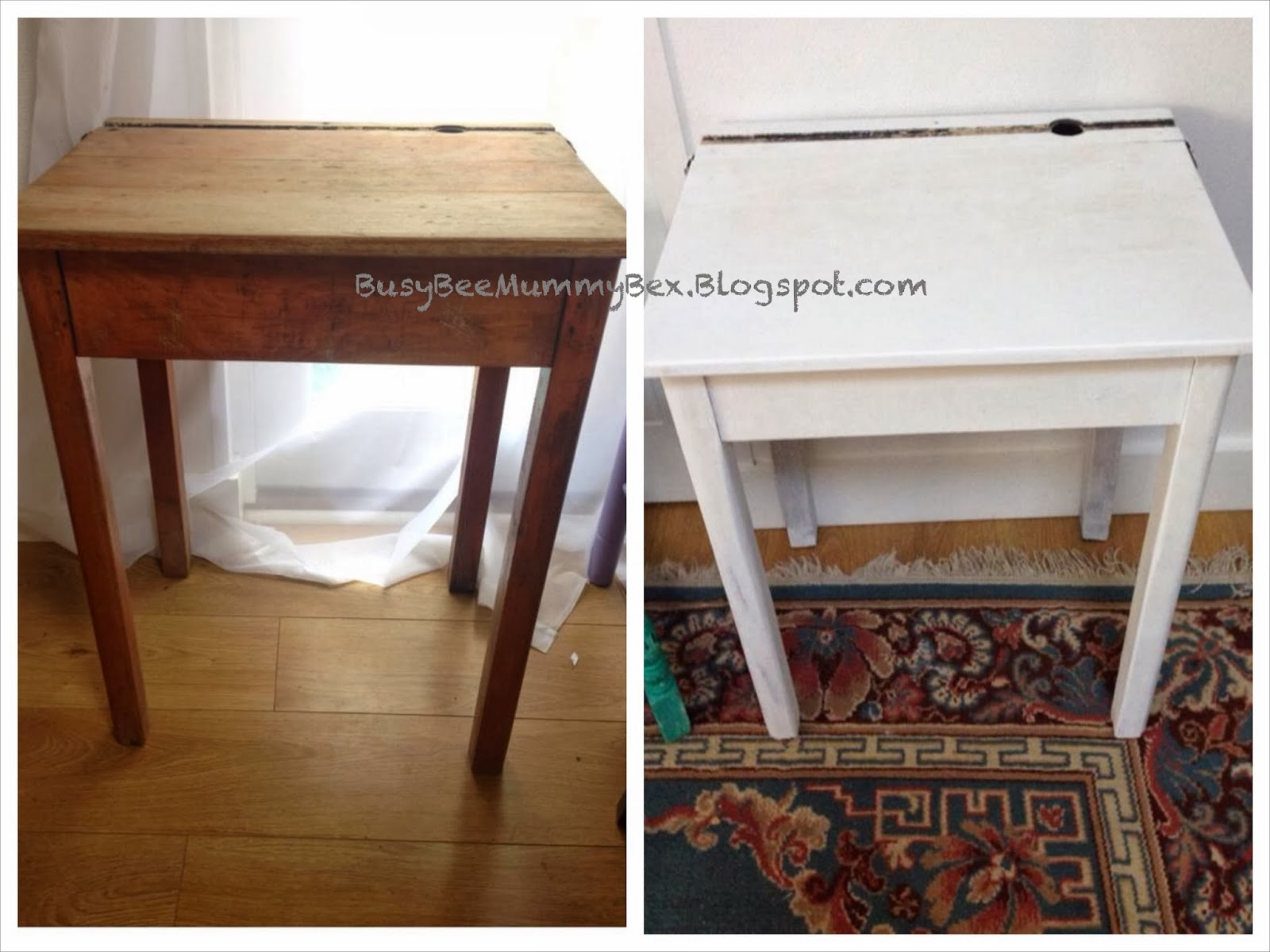 Talipes Baby And Lifestyle Blog: Upcycling Vintage School Desk. Full resolution  photograph, nominally Width 1600 Height 1200 pixels, photograph with #165C4F.