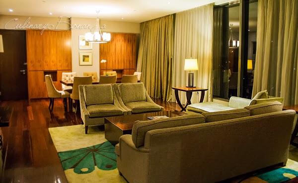 Livingroom inside the Presidential Suite at Hilton Bandung