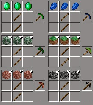 More Pickaxes Mod crafteos