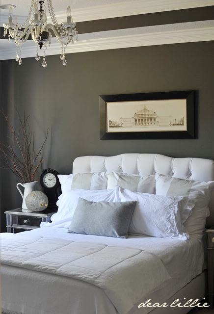 Black and charcoal gray paint colors for our home office for Charcoal grey bedroom