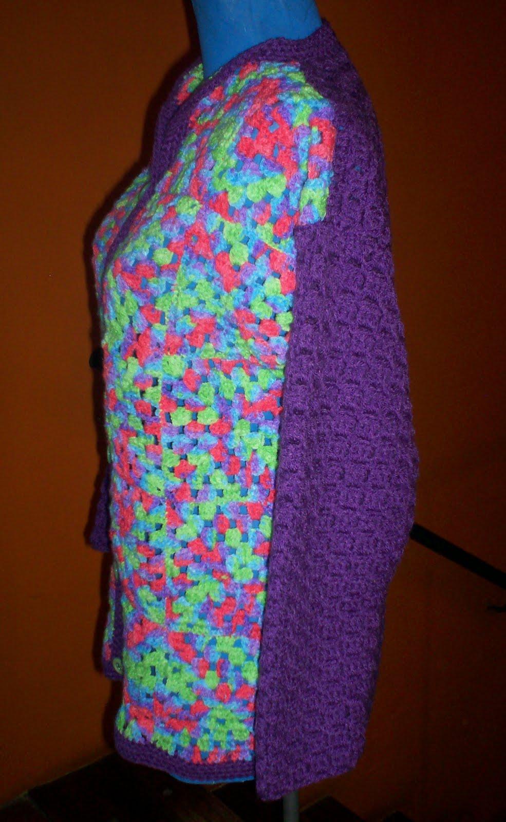 Del taller al mundo 2 una linda combinaci n en crochet - Cuadraditos de crochet ...
