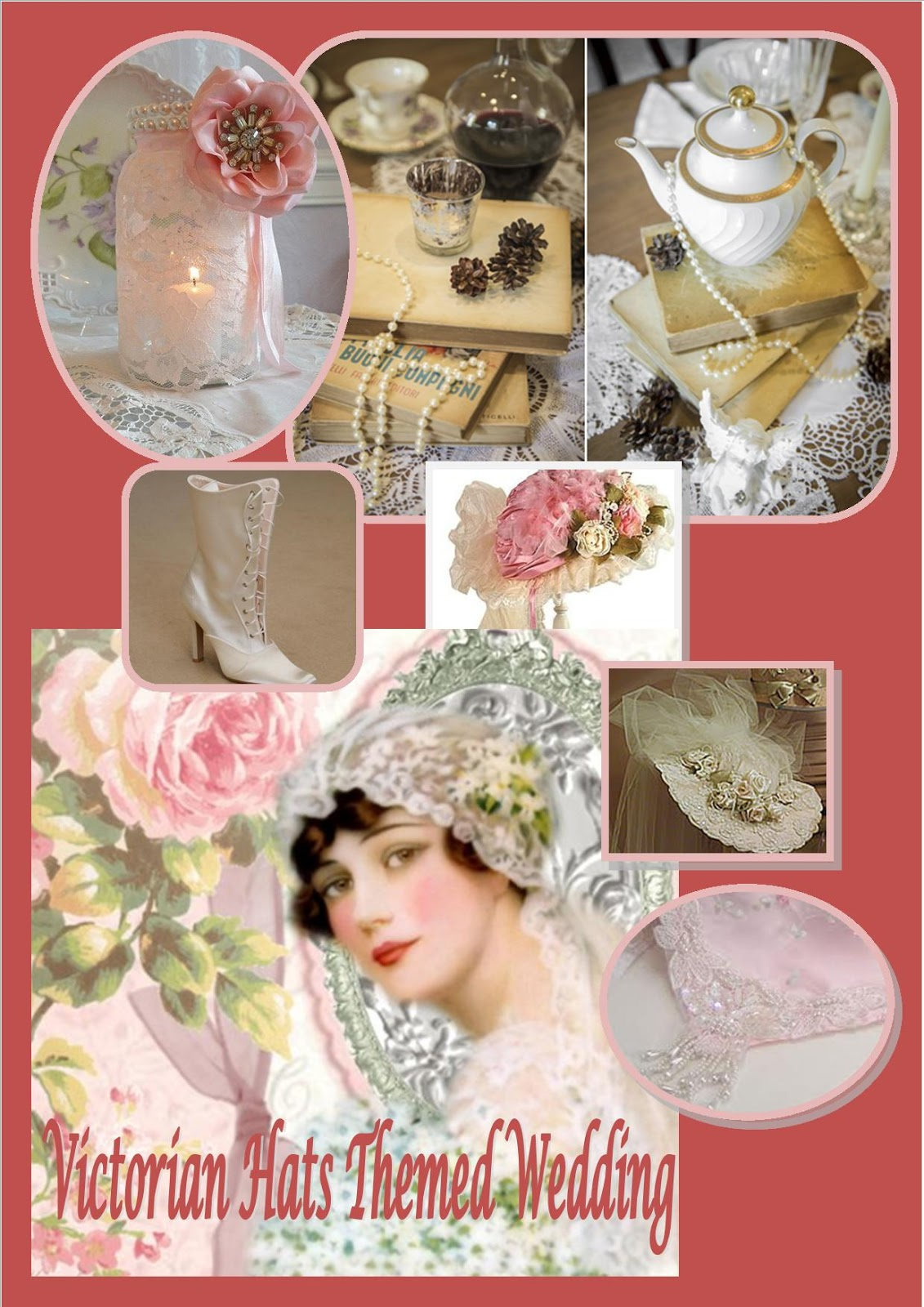 Imagine Themed Decor Victorian Hat Themed Wedding