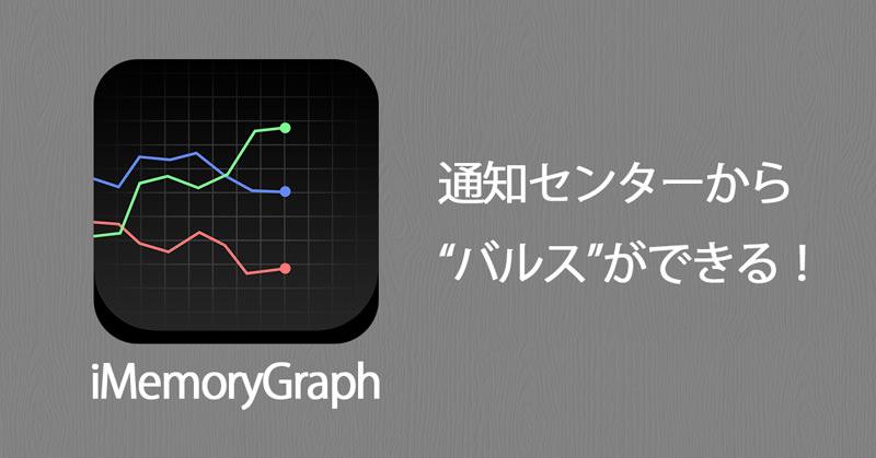 iMemoryGraphがウィジット対応で、ウィジットからメモリ解放できるぞ!