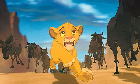 Hyena stampede The Lion King 1994 animatedfilmreviews.filminspector.com