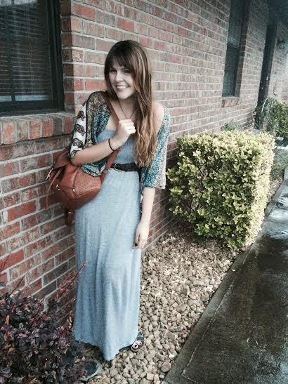 maxi dress and kimonos