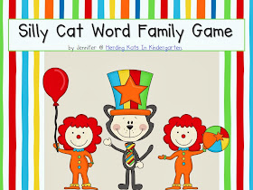 http://www.teacherspayteachers.com/Product/Circus-Cat-Word-Family-Game-1127249