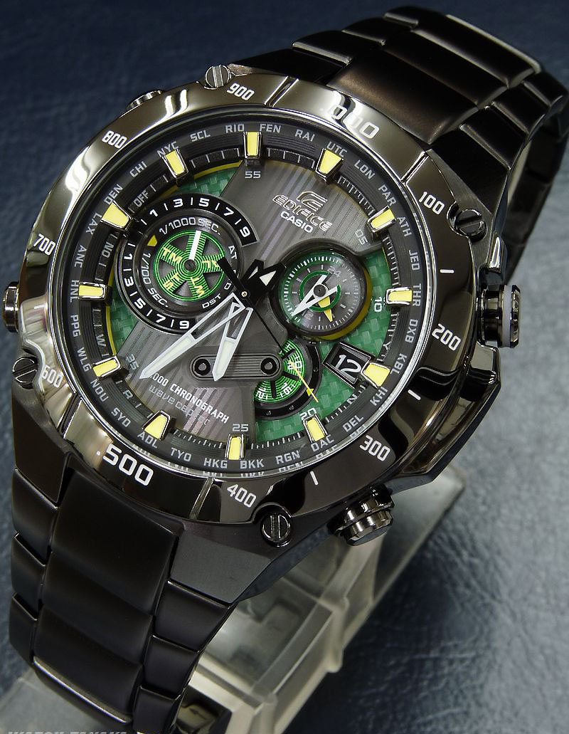 a looking at casio edifice black atomic solar