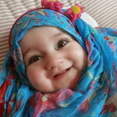 foto bayi perempuan islami berjilbab, bayi perempuan imut, bayi perempuan cantik, foto bayi perempuan lucu dan menggemaskan