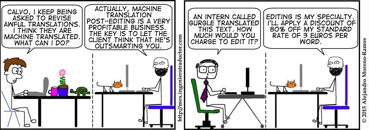 Machine translation post-editing is a very profitable business
