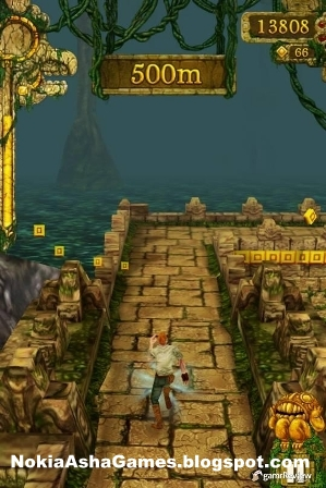 Temple Run 240x400 landscape java game Download for Nokia Asha 305 306