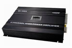 Sebuah Amplifier merupakan perangkat yang di perlukan sound system agar berfungsi dengan baik. Amplifier ini akan membantu untuk membuat suara audio mobil lebih
