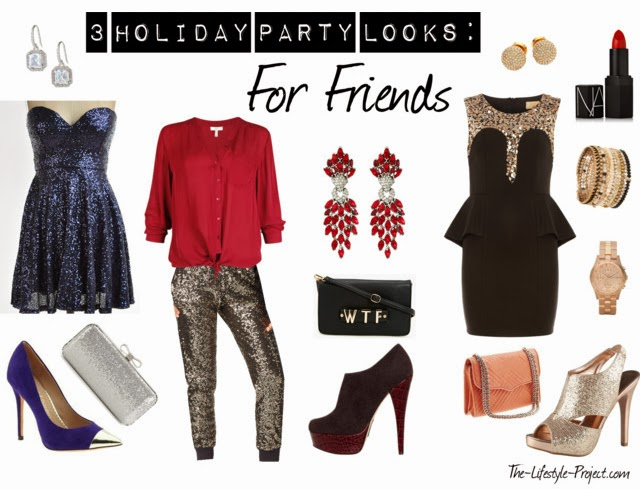 Sequins holiday looks party outfits