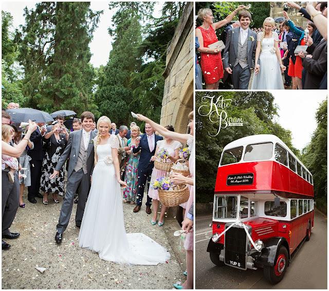 vintage wedding bus, camper van hire newcastle, wedding camper van northumberland, eshott hall, eshott hall wedding, morpeth wedding, katie byram photography, vintage wedding