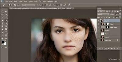 Hướng dẫn xóa xóa tàn nhang trên gương mặt bằng PhotoShop CC