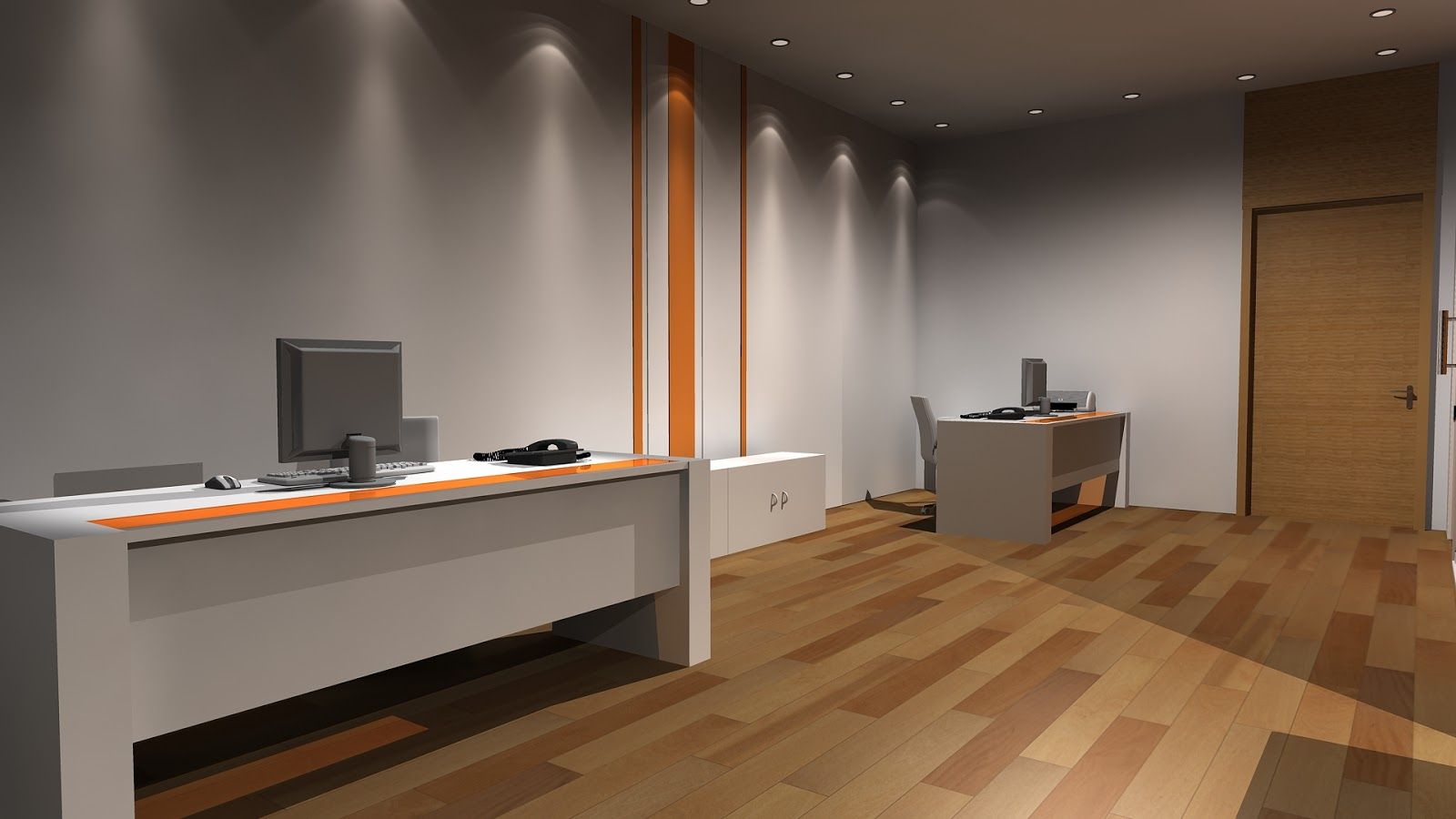 Sajid designer interior design office 3ds max for Office design 3d max