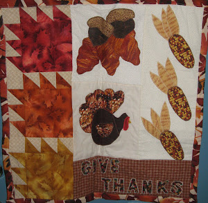Thanksgiving door quilt