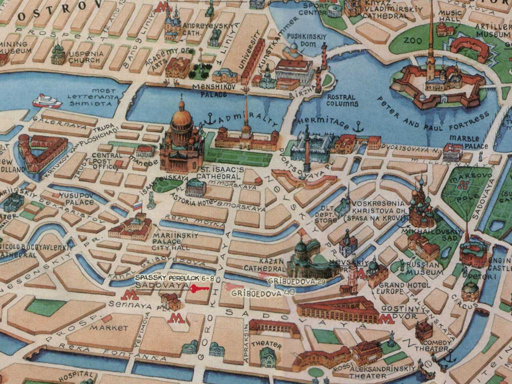 Достопримечательности санкт-петербурга посмотреть на схеме