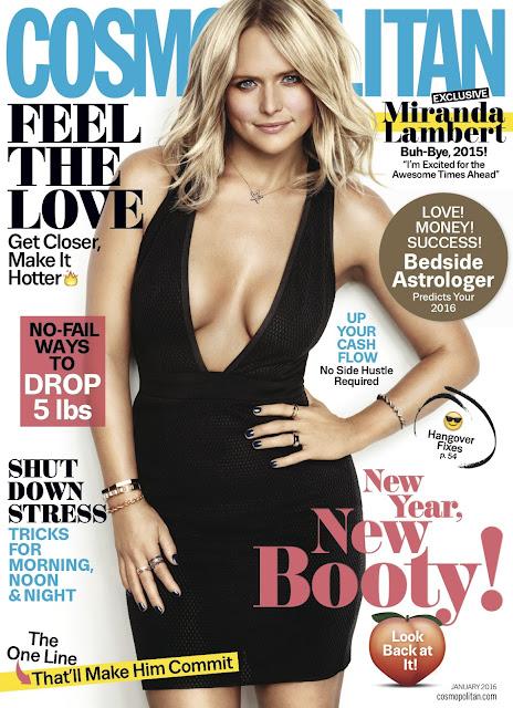 Singer, @ Miranda Lambert cleavy for Cosmopolitan Magazin