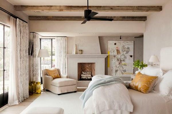 Diseño de Dormitorios con Chimenea