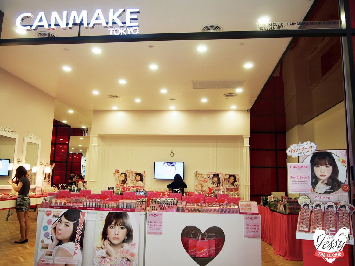 Japanese Cosmetic Canmake First Concept Store In Malaysia ( Da:Men, USJ)