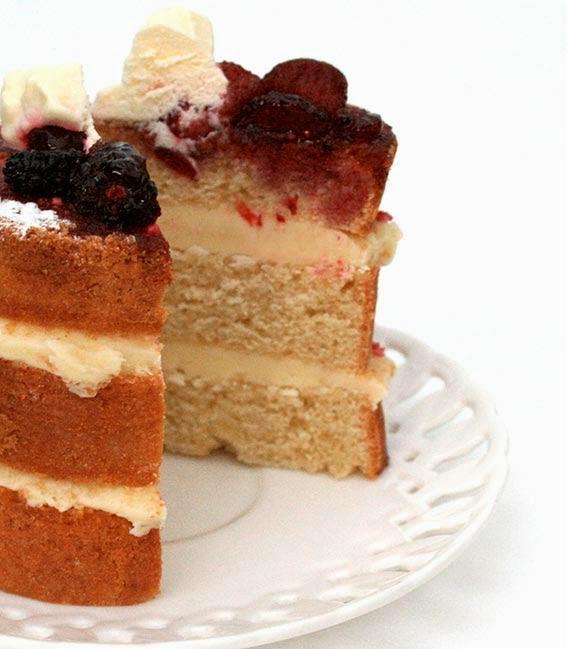mini victoria sponge cake