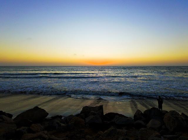 Namibia: Atlantic Ocean and Sand Dunes near Swakopmund