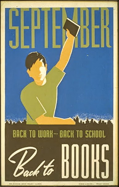 bound wpa posters on books and libraries